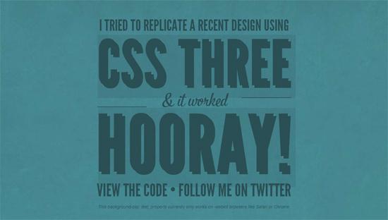 CSS3 Hooray