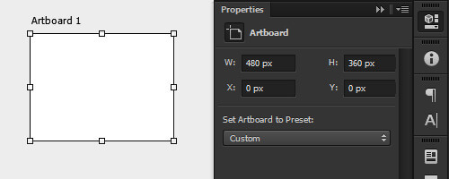 Resizing and positioning using the Properties panel