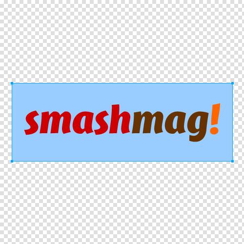 Logo image on canvas