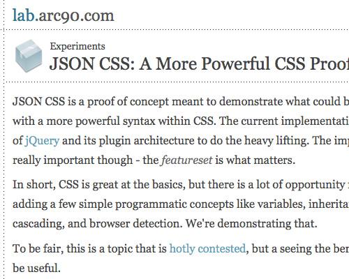 JASON CSS
