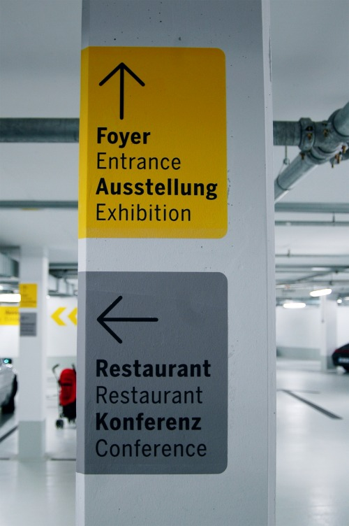 Wayfinding and Typographic Signs - porsche-museum