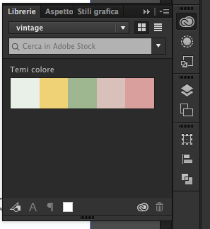 The color palette you chose is now visible in Libraries