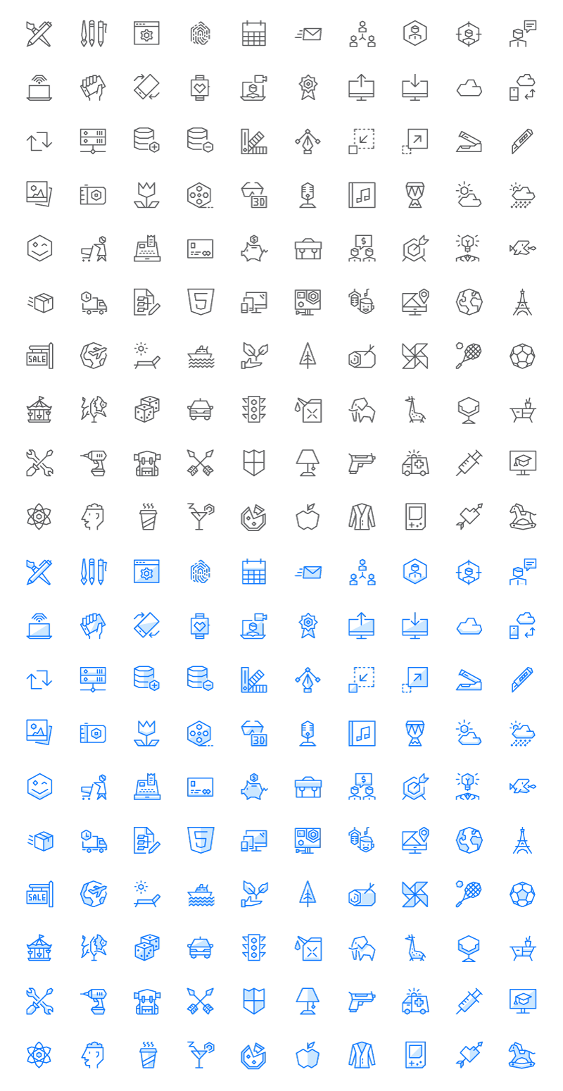 EGO Icons full preview