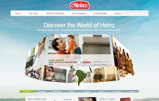 Screenshot, Heinz.com.
