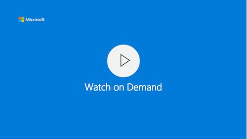 Webcast Build 2016