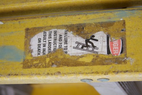 Wayfinding and Typographic Signs - danger-ladder