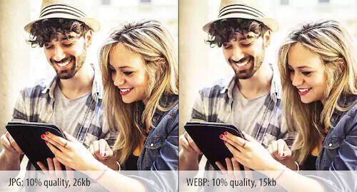 Difference in quality between JPEG and WebP