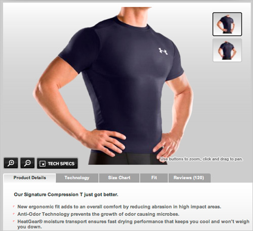 Under Armour e-commerce description