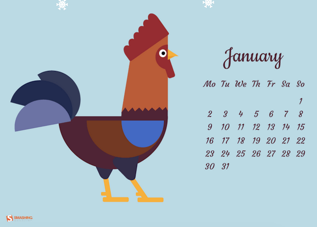 The rooster wishes you a happy New Year!