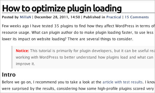 How to optimize plugin loading — Practical