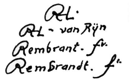 rembrandt signatures