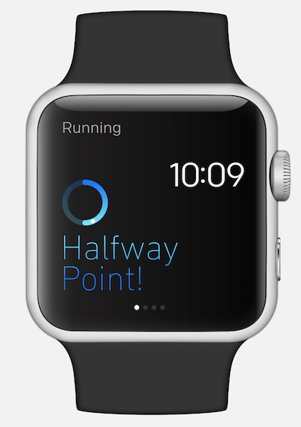 Figure 3: Minimalist design with color on the Apple Watch.