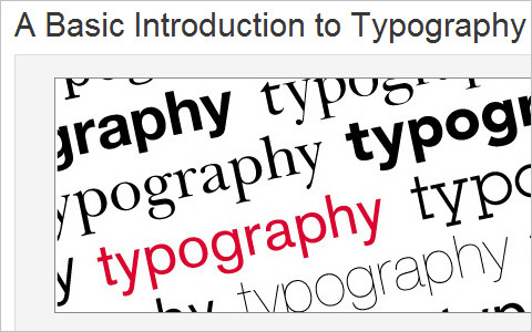 Useful Typography Resources - A 20 Minute Intro to Typography Basics