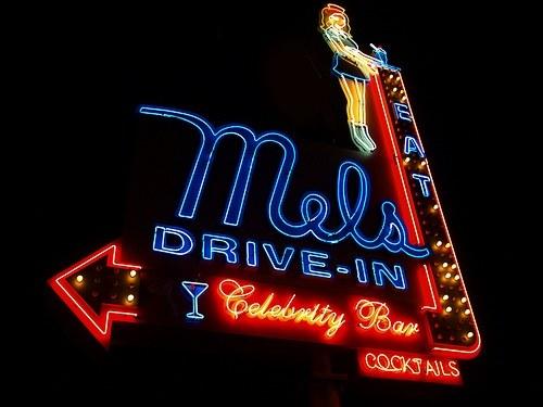 Vintage Signage - Mel's Drive In