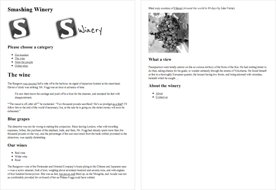 print style sheet