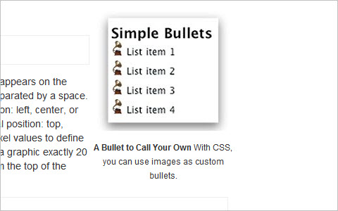 CSS tricks for custom bullets