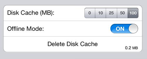 iCab Offline Settings