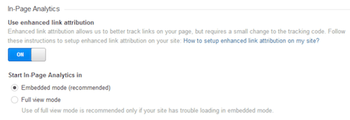 Configuring enhanced link attribution