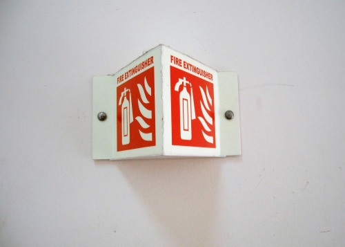 Wayfinding and Typographic Signs - fire-extinguisher-signage