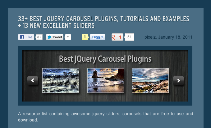 Maybe if we got out more there would be a wider range of personal projects and fewer of near identical jQuery plugins!