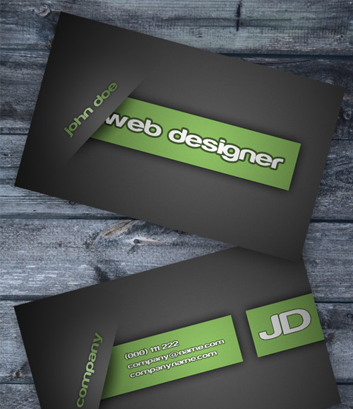 Business card design starter kit showcase tutorials templates the template package includes a psd file pdf help file and preview image screenshot business card wajeb Images