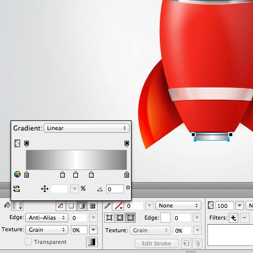 The metal gradient in the exhaust.