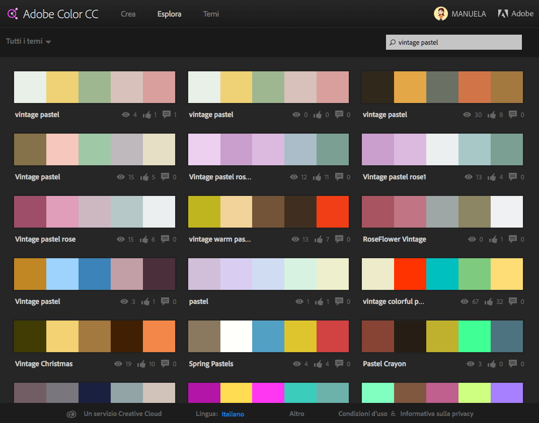 Use Adobe color CC to look for a color palette that suits your design.