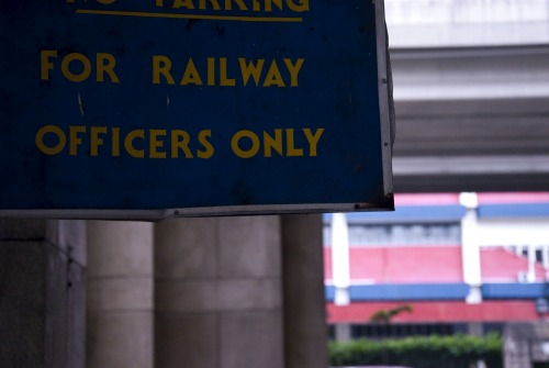 Wayfinding and Typographic Signs - railway-officers-parking-space