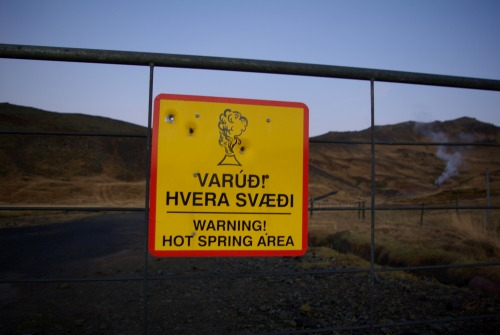 Wayfinding and Typographic Signs - iceland-hot-spring-area
