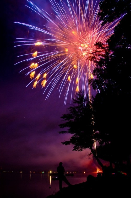 Fireworks Photos - Fireworks at Otsego Lake