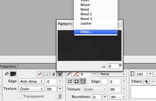 Applying a Pattern in Adobe Fireworks