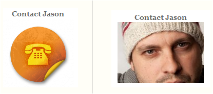 Human photos vs. generic icon