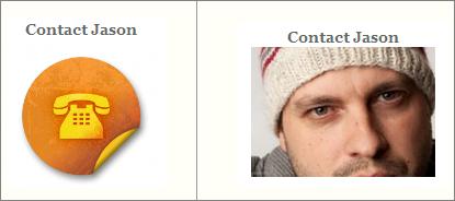 Human photos vs. generic icon