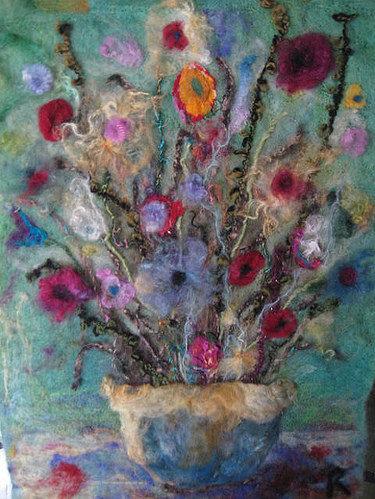 flowers on felt background