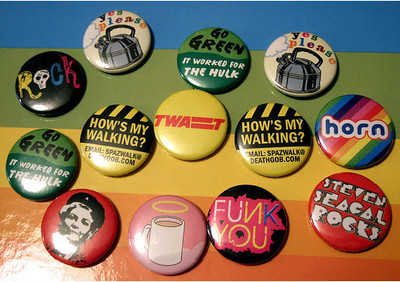 Pins, Badges and Buttons - DeathGob Badges