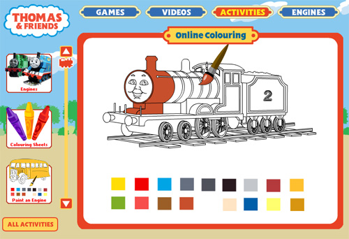 Thomas and Friends Online Colouring