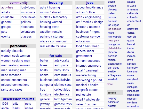 Redesigning Craigslist With Focus On Usability — Smashing