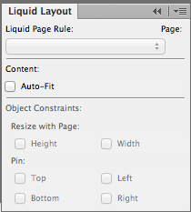 Define liquid layout rules before creating an alternate layout, to fully leverage the time-saving benefits of this feature.