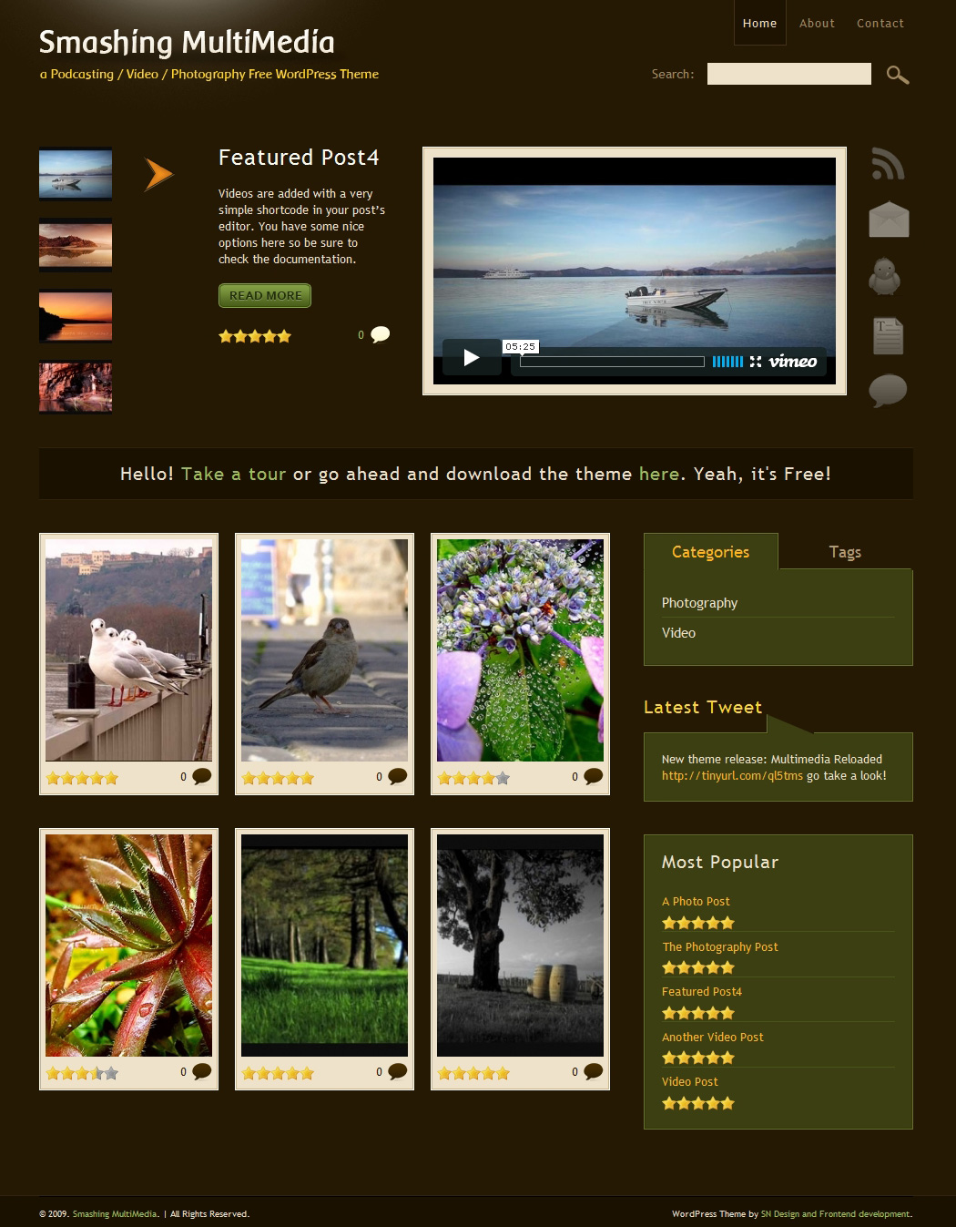 Free Podcasting, Video and Photography WordPress Theme — Smashing ...