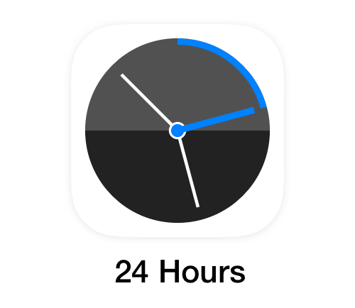 """24 hours"" app for iPhone and Apple Watch"