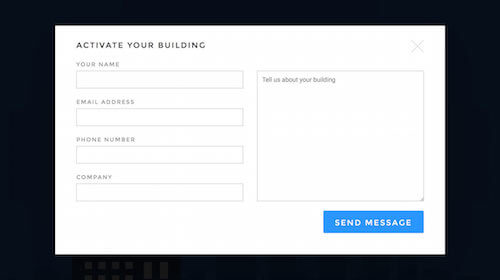 A pure-CSS modal-box web form