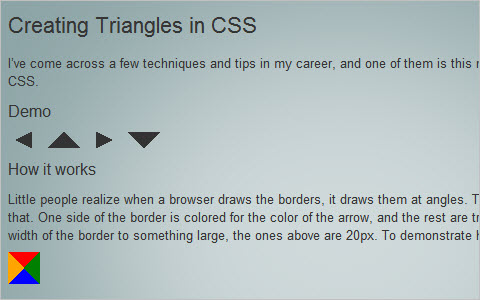 Creating Triangles in CSS