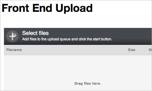 Announcing Front End Upload, a New WordPress Plugin — Monday By Noon
