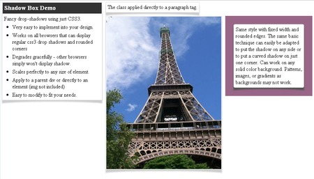 CSS3 Designs For Free Download - css3-image-less-warp-shadows