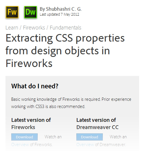 How To Master Fireworks' CSS Properties Panel And CSS Professionalzr