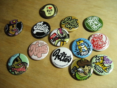 Pins, Badges and Buttons - Filter017 Pins