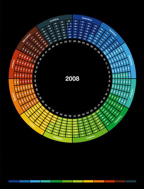 Calendar Concepts Graphic Design : Creative calendar designs — smashing magazine