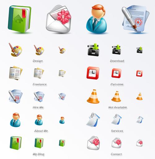 Free High Quality Icon Sets - Cute Blogging Icon Set