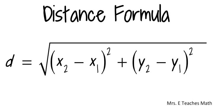 The distance formula.