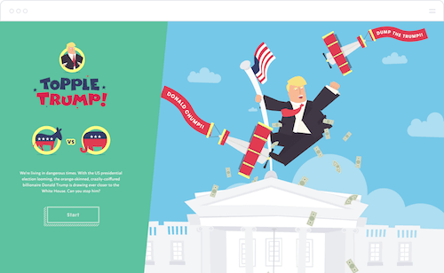 """Building """"Topple Trump"""", An Interactive Web-Based Quiz Game (Case Study)"""